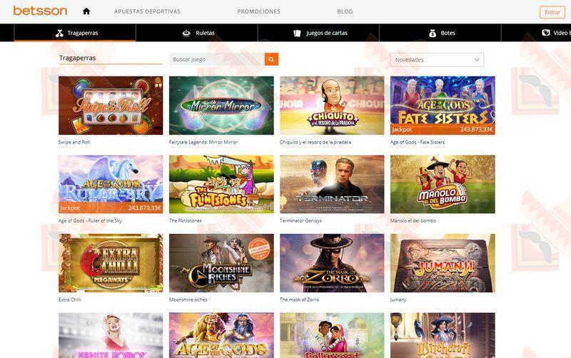 Betsson Casino Captura de Pantalla