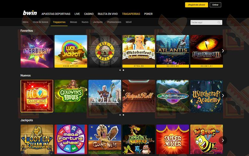 Bwin Casino Captura de Pantalla