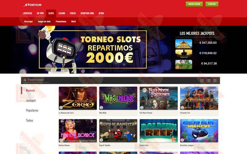 Sportium Casino Captura de Pantalla