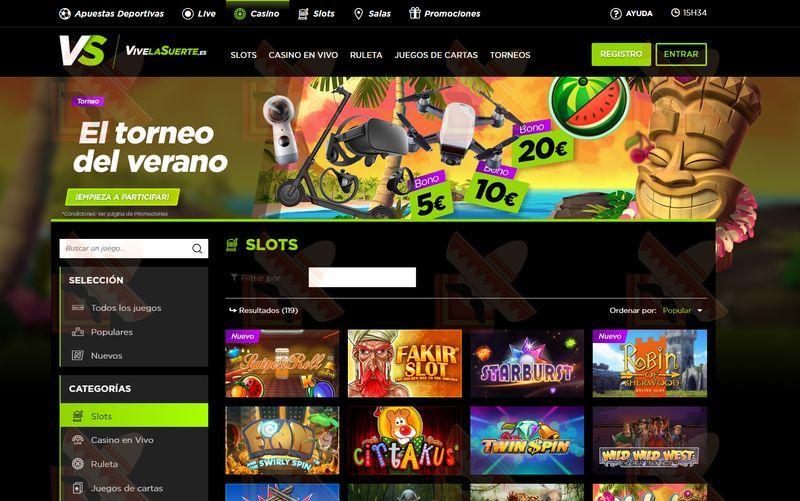 Vivelasuerte Casino Captura de Pantalla