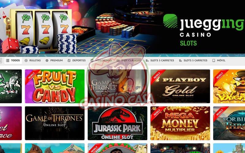 Captura de pantalla juegging casino en Casino Casa