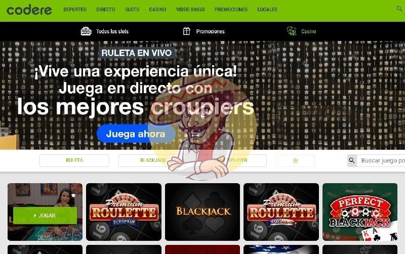 Descubre todo sobre Codere casino captura de pantalla