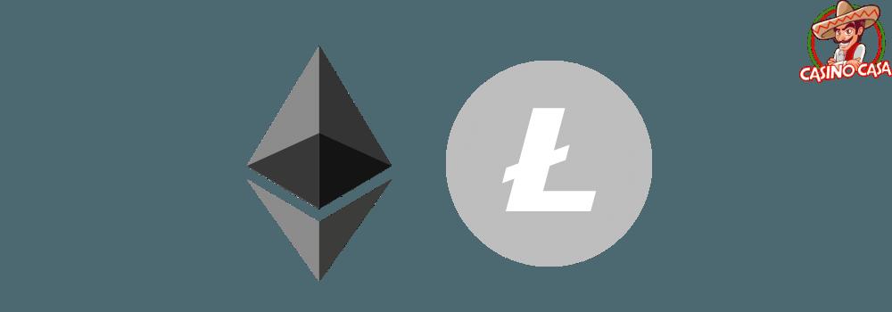 Logotipos de Ethereum y Litceoin